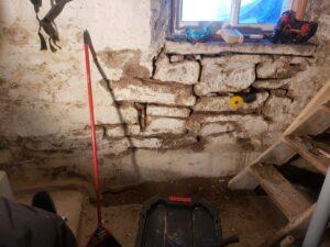 stone foundation mortar repair