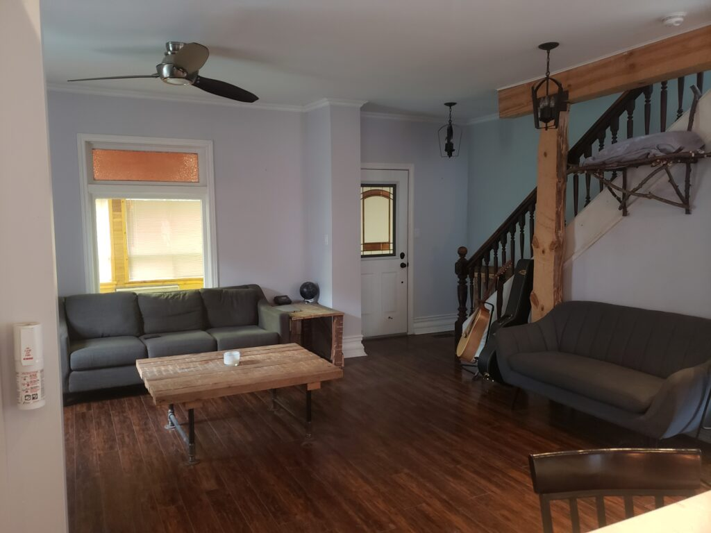 living room rustic farmhouse reno