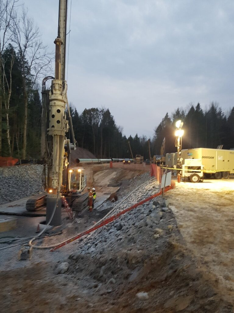 large civil projects excavation design and layout