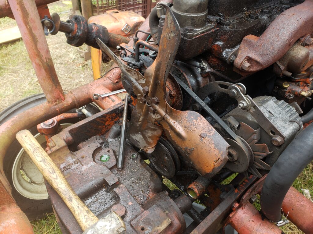 equipment and machinery maintenance farm tractor coolant system flush and service