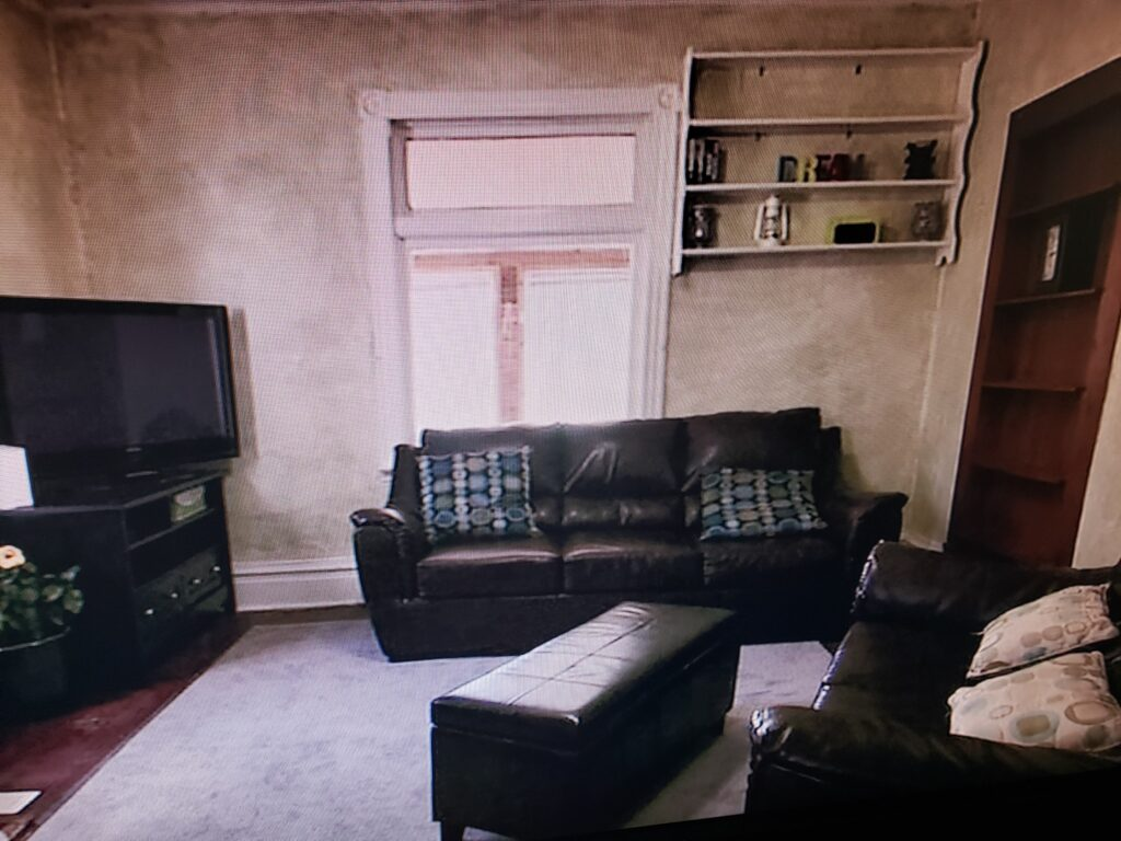 before and after photos farmhouse living room renovation