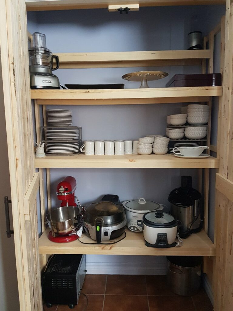 custom pantry shelving wood kitchen