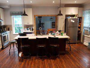 kitchen island open concept farmhouse
